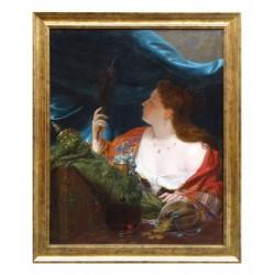 Portrait de femme au miroir