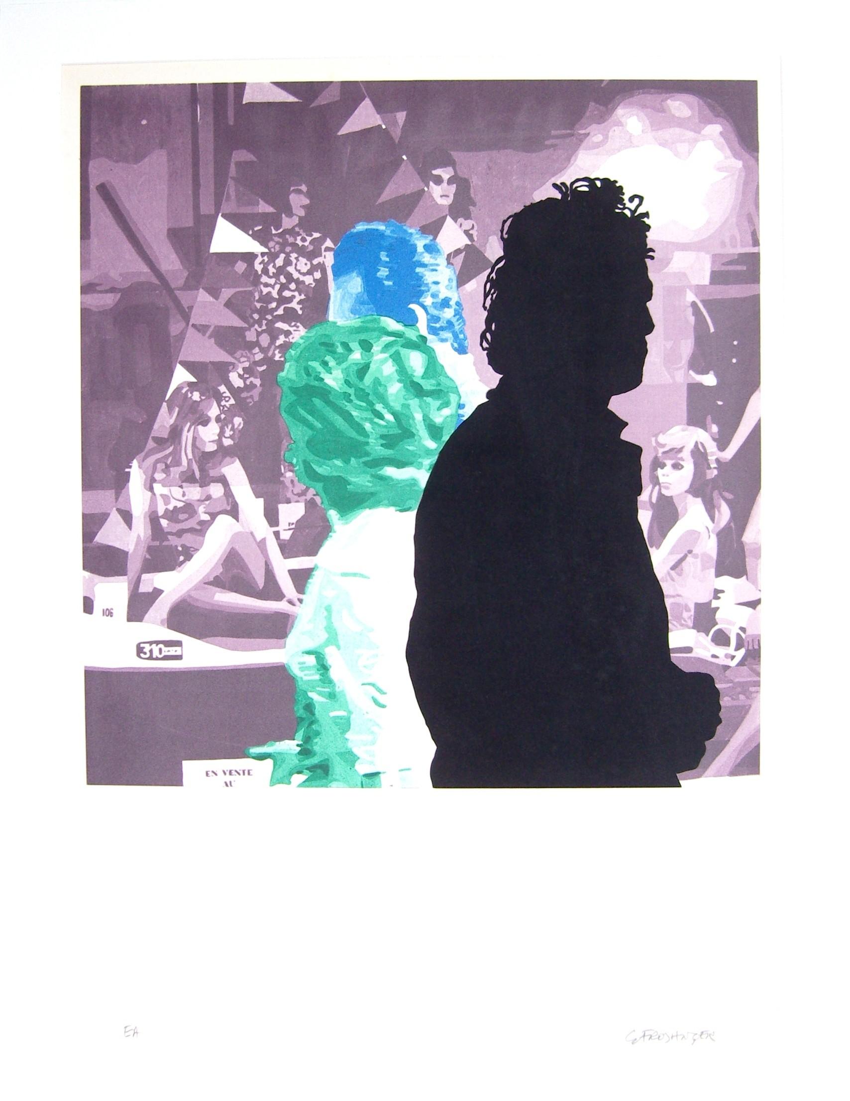 oeuvre peintre et mod le violet de mars ii par fromanger g rard. Black Bedroom Furniture Sets. Home Design Ideas
