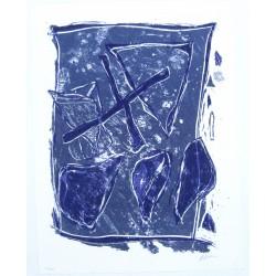 Composition bleue et mauve