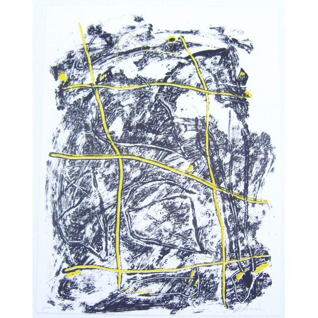 Composition jaune et noire II
