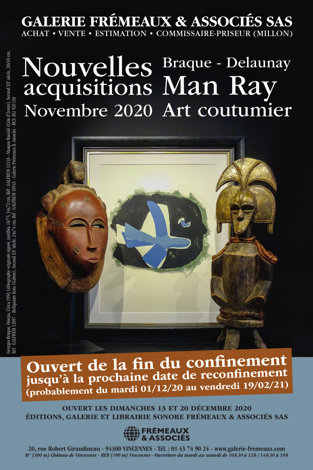 Nouvelles acquisitions 2020 - Braque, Delaunay, Man Ray, Art coutumier
